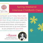 Spring Weekend Intensive Birth Preparation Class
